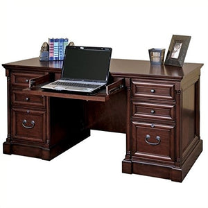 Martin Furniture Mount View Efficiency Double Pedestal Desk - Fully Assembled