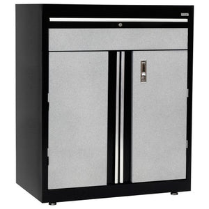 "Sandusky Lee GADF301836-M9 Welded Steel Base Cabinet, 1 Drawer, 1 Adjustable Shelf, 200 lb. Per Shelf Capacity, 36"" Height x 30"" Width x 18"" Depth"