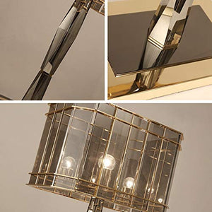 Kitzen Crystal Table Lamp, Crystal Iron Frame Glass Luxury Crystal Bedroom Table Lamp Decoration Living Room Lamp, 3454Cm