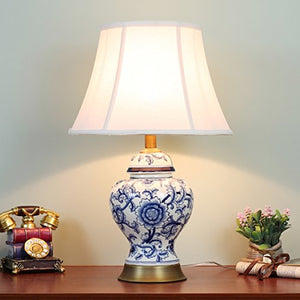 505 HZB Modern Bedroom Bedside Lamp Ceramic Room Desk Lamp