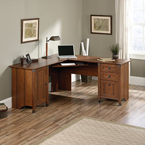 "Sauder 416969 Carson Forge Corner Computer Desk, L: 66.14"" x W: 66.14"" x H: 29.88"", Washington Cherry finish"