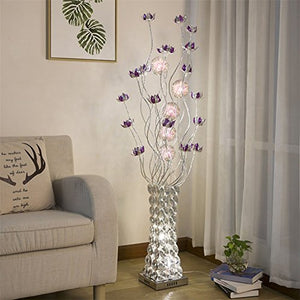 LED Floor Lamp, Rural Decoration Personality Vase Simple Modern Living Room Bedroom Floor Light,Footswitch
