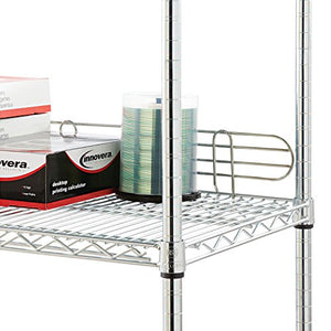 "Alera ALESW59BS48SR Wire Shelving Back Support, 48"" Wide, Silver (Pack of 2 Supports)"