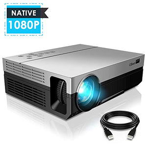 1080P Projector, CiBest Upgraded Native 1080P 3600 Lux Projector HD Video Movie LED Projector for Home Theater Entertainment Parties Games [2018 Newest Model]