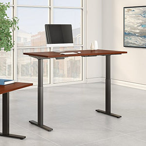 Move 60 Series 60W x 30D Height Adjustable Standing Desk in Hansen Cherry with Black Base