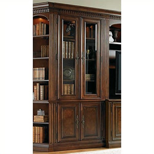 Hooker Furniture European Renaissance II Glass Door Bookcase in Cherry