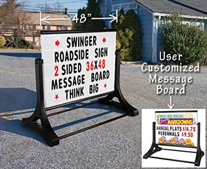 "36""x48"" Swinger Roadside Message Board Sign"