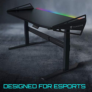 ThunderX3 AD7 HEX Gaming Desk - TiMOTION Dual Motor, Adjustable Height, 16.8 Million Colors RGB Lighting