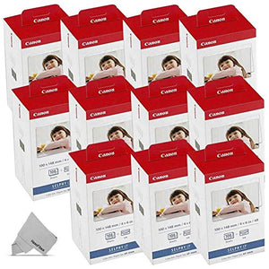 10 Pack Canon KP-108IN / KP108 Color Ink Paper includes 1080 Ink Paper sheets + 30 Ink toners for Canon Selphy CP1300, CP1200, CP910, CP900, cp770, cp760 Compact Photo Printers