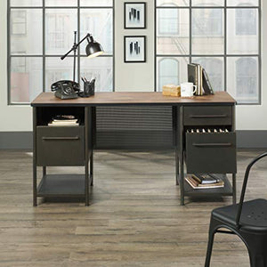 Sauder 420701 Boulevard Cafe Executive Desk, Black & Vintage Oak Finish