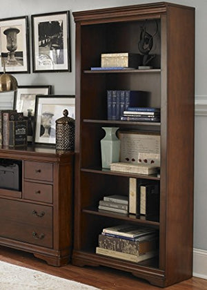 Liberty Furniture INDUSTRIES 378-HO201 Brookview Home Office Open Bookcase, Rustic Cherry Finish