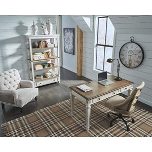 Signature Design by Ashley H743-34 Realyn Home Office Desk, White/Brown