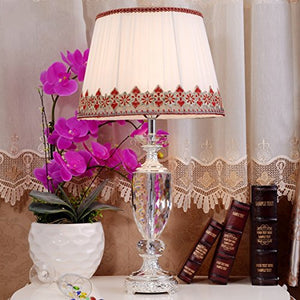 505 HZB European Fashion Room Living Room Bedroom Bedside Crystal Desk Lamp