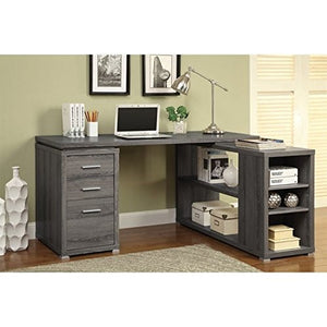 Scranton & Co L Shaped Computer Desk in Dark Gray
