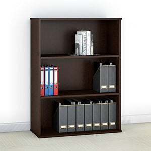 Bush Business Furniture Easy Office 48H 3 Shelf Bookcase in Mocha Cherry