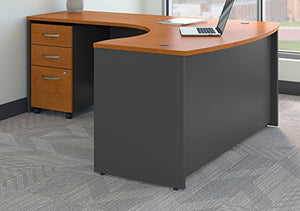 Bush Business Furniture Series C Left Handed L Shaped Desk with Mobile File Cabinet in Natural Cherry