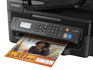 Epson Workforce ET-4500 EcoTank Wireless Color All-in-One Supertank Printer with Fax