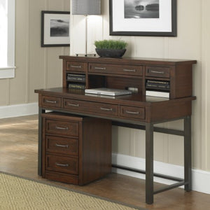 Cabin Creek Chestnut Desk, Hutch & Mobile File by Home Styles