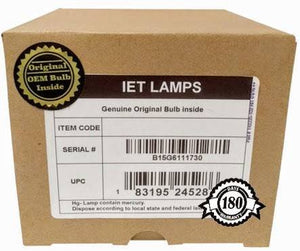 IET Lamps - Genuine Original Replacement Bulb/lamp with OEM Housing for Canon RS-LP08 Projector (Ushio Inside)