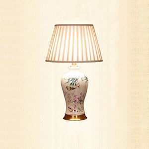 505 HZB Bedroom Bedside Lamp American Ceramic Room Desk Lamp