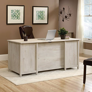 Sauder 418795 Edge Water Executive Desk, Chalked Chestnut Finish