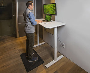 Ergo Elements Electric Adjustable Height Standing Desk Frame with Up/Down Button, White