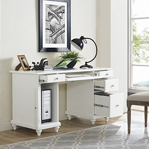 Crosley Furniture CF6507-WH Palmetto Computer Desk - White