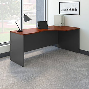 Bush Business Furniture Series C 72W Right Handed Corner Desk in Hansen Cherry