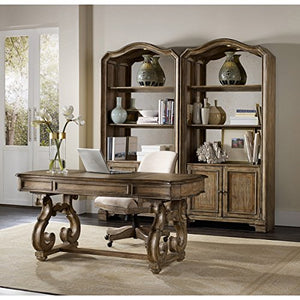 "Hooker Furniture Solana 66"" Writing Desk in Light Oak"