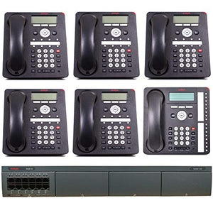Avaya IP Office Phone System: Basic Digital Edition - 1 Year of Dialtone (6 Phone Bundle)