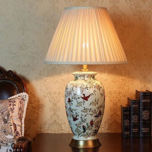 505 HZB Ceramic Desk Lamp, Living Room Study, Fashion Lamp, American Bedroom Bedside Lamp.