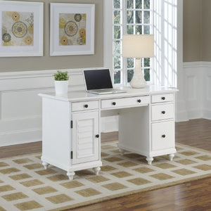 Bermuda Brushed White Pedestal Desk by Home Styles