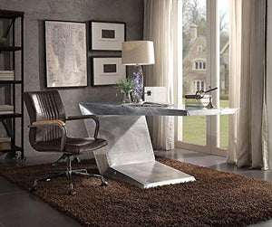 Writing Desk in Silver Finish