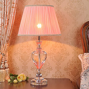 505 HZB Crystal Lamp, Bedroom Bedside Lamp, American Living Room, Study, Fashion Lamp. (Size : S3660cm)