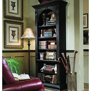 Hooker Furniture 500-50-385 Black Bookcase, Gold Accents