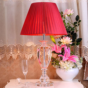505 HZB European Crystal Desk Lamp Bedroom Bedroom Desk Lamp (Size : L4070cm)