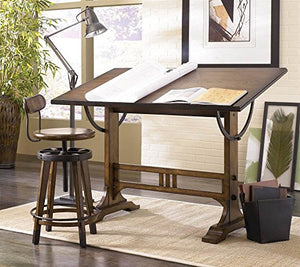 Hammary Studio Home Architect Desk in Oak