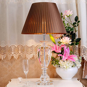 505 HZB European Table Lamp Bedroom Bedside Room Reading Room Crystal Lamp (Size : L4070cm)