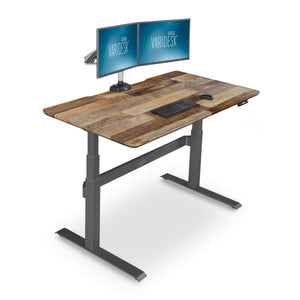 VARIDESK – Full Electric Desk – PRODESK 60 Electric Reclaimed Wood - 3-Button Memory Settings