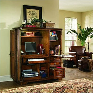 Hooker Furniture Brookhaven Computer Cabinet in Clear Cherry