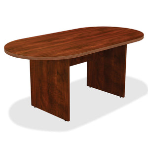 Lorell 34374 Chateau Conference Table, Cherry Laminate
