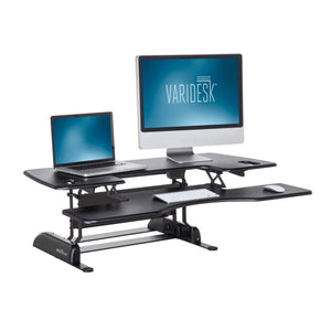 VARIDESK – Height Adjustable Standing Desk Converter – ProPlus 48 – Stand Up Desk for Dual Monitors – Black