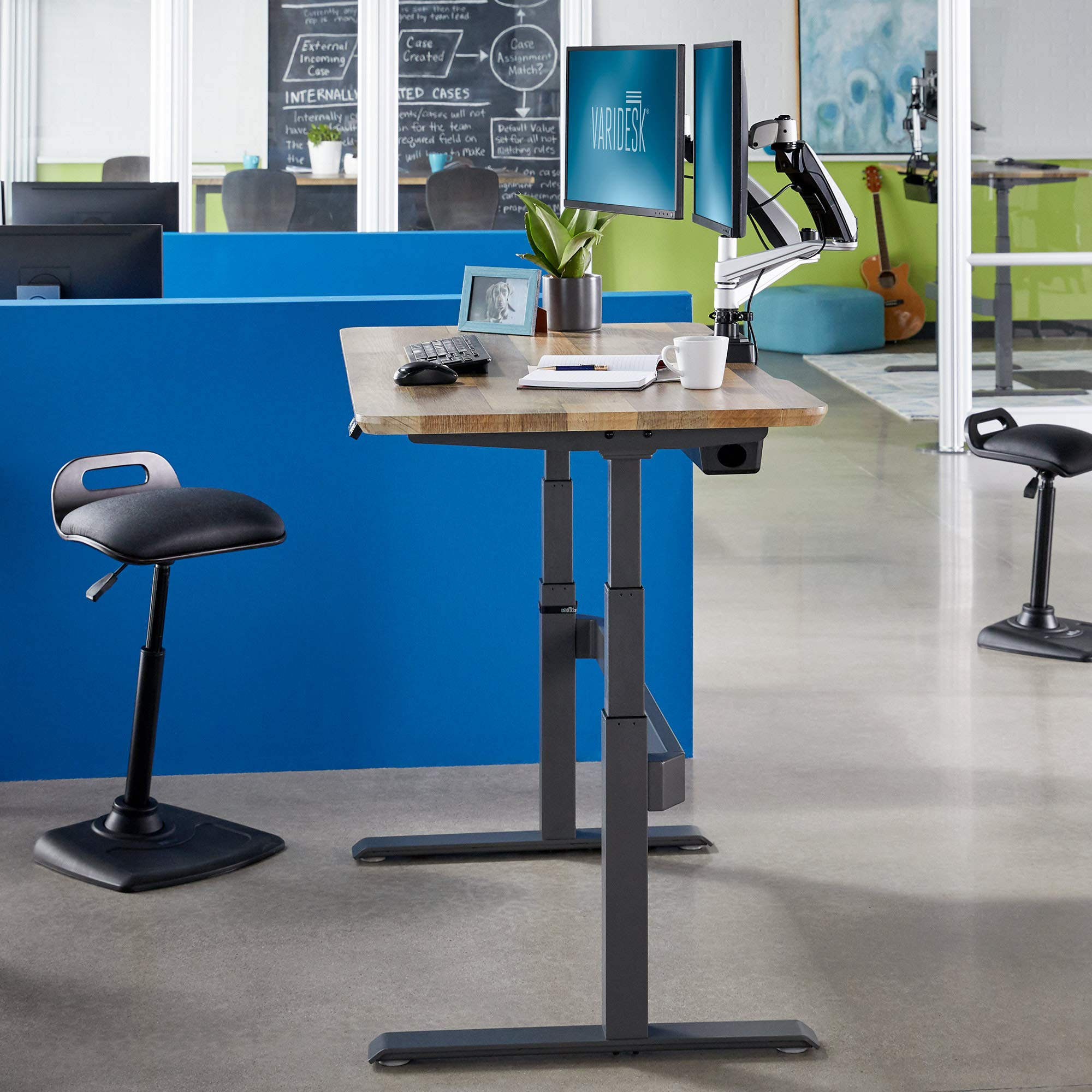 Phenomenal Varidesk Full Electric Desk Prodesk 60 Electric Reclaimed Wood 3 Button Memory Settings Alphanode Cool Chair Designs And Ideas Alphanodeonline