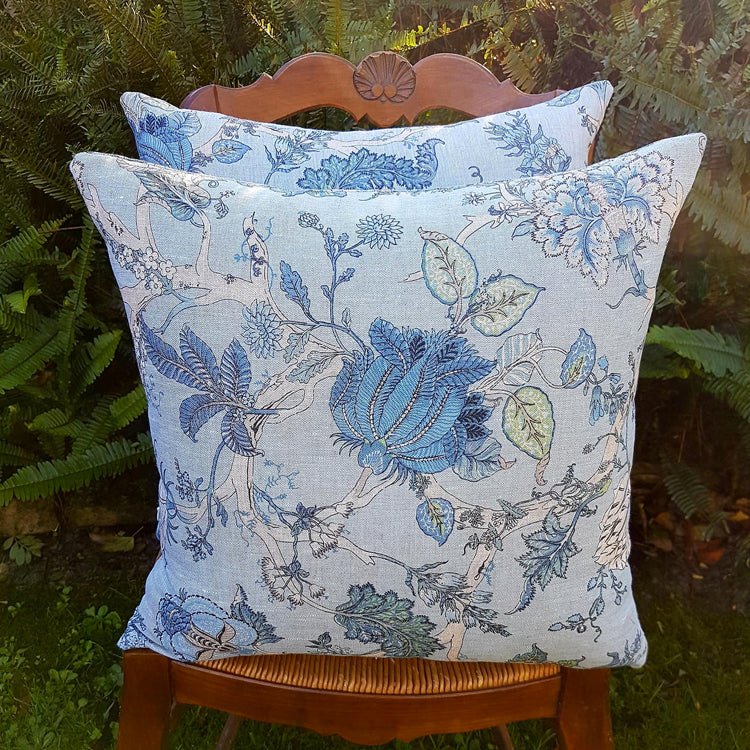Botanical Blue Cushion