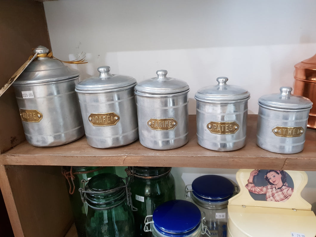 French aluminium canister set