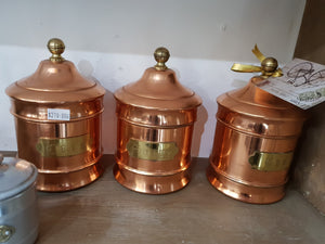French copper canisters (3)