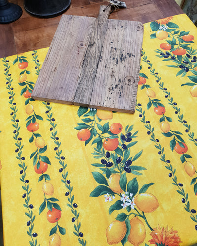 Lemons yellow French tablecloth