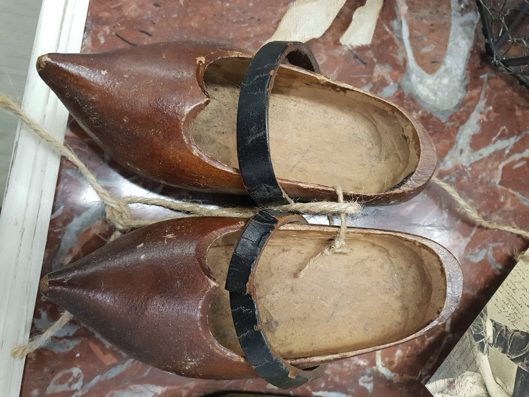 Vintage French wooden shoes