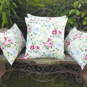 White Floral Cushion