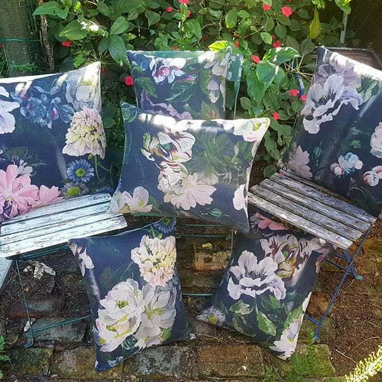 Designers Guild Delft Flower Cushion